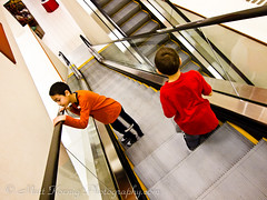 Going Down (matt.koenig) Tags: boys kids mall escalator goingdown canons90 mattkoenigphotography