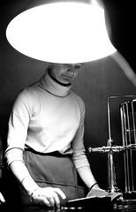 girl in a gambling hall 1963 (Bengan Bjorkbom) Tags: leica lund sweden stockholm trix mm 35 grna djurgrden