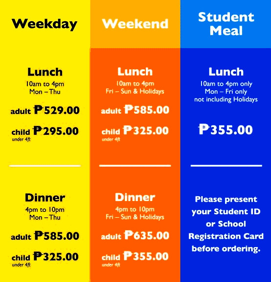 Seoul Garden at SM Annex in North Edsa price list - CertifiedFoodies.com