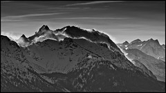 Orkan Andrea (BM-Licht) Tags: schnee sun mountain lake snow mountains tree berg germany bayern deutschland bavaria see blackwhite nikon wasser frost andrea berge waters schwarzweiss bume walchensee fichte tanne kochel sturm orkan klte urfeld kesselberg jochberg d7000 kesselberghhe