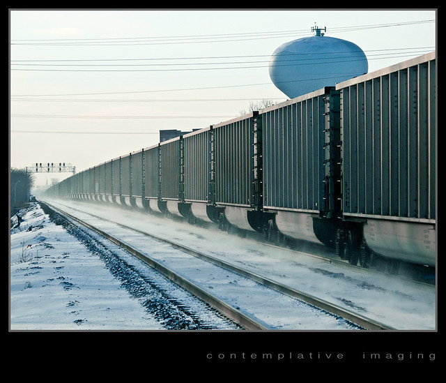 the empty coal train