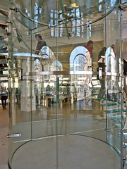 Apple Store in Amsterdam . (Franc Le Blanc) Tags: glass amsterdam stairs lumix applestore panasonic reflexions