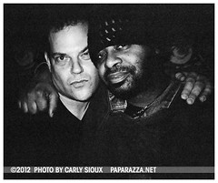 John Arthur Carr & Dany @ WIP (carly_sioux) Tags: bw film brooklyn streetphotography wip nightlife pointshoot picturesofyou paparazza apolloheights artparties carlysioux