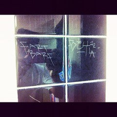 Fart Barf and Before (VCR_) Tags: pen tile graffiti tags barf fart scribes streaker exacto