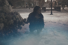 (Dani Nuckols) Tags: blue snow storm girl weather lost outside outdoors nikon d7000