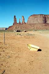 Monument Valley (Peter Gutierrez) Tags: photo united states us usa america american south southern west western southwest southwestern arizona arizonan az navaho navajo nation colorado plateau monument valley tsé bii ndzisgaii rocks hills hill butte buttes formation formations sand desert peter gutierrez petergutierrez film americana photograph photography