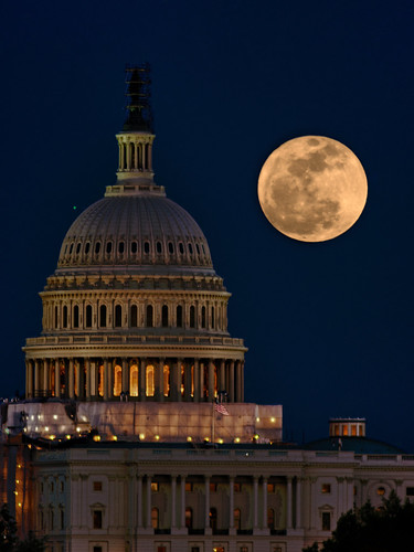 Pink Moon Over the Capitol  ODC2 DIY (fastapp69 (Closing the books)) moon night dc lowlight nikon meetup capitol faraway pinkmoon f64 3wc d5100 fastapp69 needtosetdstoncamera oldmanualjapanese400mm