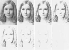 (alice & her cameras) Tags: blackandwhite selfportrait smiling grey photocopy series fade fading xerox greyscale photocopied alicedickinson aliceandhercameras alicehercameras