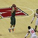 Miami's Shane Larkin takes jump shot.