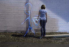 Home by Edward Sharpe & The Magnetic Zeros (monica arcaro) Tags: longexposure blue lightpainting love home paint neon alone glow you stripes relationship longing feelings