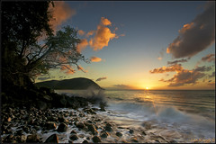 Sunset in Guadeloupe II (Jean-Michel Raggioli) Tags: sunset seascape caribbean guadeloupe deshaies