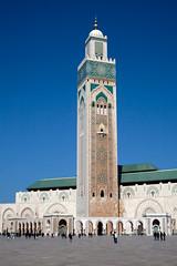 Hassan II Mosque, Casablanca (marciabilyk) Tags: plaza worship minaret islam prayer mosque holy morocco mohammed sacred ramadan allah muhammad salah muezzin calltoprayer