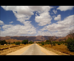 on our way to tafraoute (atsjebosma) Tags: road sky sun mountains clouds bomen blauw wolken morocco bergen tafraoute weg bluetrees atsjebosma mygearandme mygearandmepremium mygearandmebronze mygearandmesilver mygearandmegold
