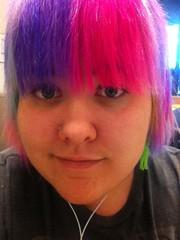 (Ty-Erin-Saurus Rex) Tags: portrait pinkhair bluehair purplehair greenhair manicpanic yellowhair rainbowhair multicoloredhair iphoneography