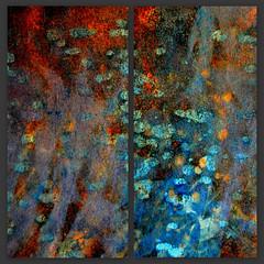 Evening Shimmer (LuAnn.Ostergaard) Tags: blue abstract modern rust diptych contemporary wallart ostergaard