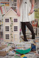 Make this house a home. (evilibby) Tags: house building art home hammer screws paint artistic handmade glue creation gift libby 365 create build paintbrush dollhouse tapemeasure sandpaper dollshouse 3655 365days 365days5 thisisthebeginning theteleidoscope