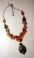 MAR ABS (Leah C.) Tags: art mar necklace web copper bead abs lampwork gemstone