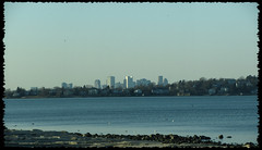 0311 Boston Skyline Panoramic taken from Wollaston beach (iluvgadgets) Tags: beach quincy panoramic wollastonbeach canonps twittographers