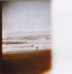 echi (Cris 77) Tags: sea film analog holga sand waves damaged