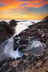 Swirl and Pour (Extra Medium) Tags: sunset malibu pch secretspot nikkor1735f28 nikond700 singhrayrgnd 42stepbeach