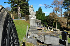 Angels in Aberfan Graveyard (Simon Downham) Tags: life flowers england mountain news black mountains green history monument loss cemetery grave childhood statue wales angel children death sadness memorial mine village child play god hill prayer pray praying memories innocent pit mining hills angels tragedy valley disaster memory innocence why coal mound tragic weeping prayers grief weep prays coalmine goverment inquiry catastrophic catastrophe grieving enquiry innocents investigation merthyr ncb slurry bereft accountability slagheap coalpit culpable smother aberfan bereavement culpability nationalcoalboard dsc0420 inquirey enquirey