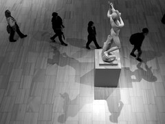 At the MET (servuloh) Tags: pictures park new york city nyc light shadow bw sculpture