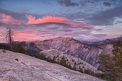 Cloud's Rest (Willie Huang Photo) Tags: sunset nature landscape nationalpark scenic sierra yosemite yosemitenationalpark lenticular cloudsrest northdome