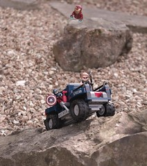 Iron Man to the Rescue (Chilliswood) Tags: rescue lego crashed ironman flies hawkeye minifig minifigs captainamerica minifigure minifigures minfig