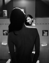 Monica_008 (patofoto) Tags: blackandwhite bw woman film pentax diafine 6x7 ilford artisticnude digitalnegative femenine pentax67ii