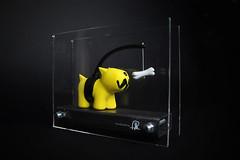 'Chasing Bones' Plastic Pup (Pahnl) Tags: dog toy model steel vinyl cast bones bone resin chasing perspex chasingbones pahnl