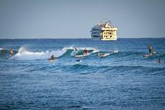 Ala Moana Bowls Surfers - Honolulu, Hawaii (banzainetsurfer) Tags: ocean sea usa water sport hawaii surf waves unitedstates pacific oahu surfer board spot shore float bowls alamoana alamoanabowls