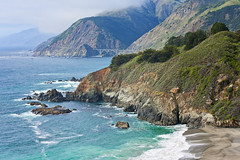 Big Sur (Allard Schager) Tags: ocean california statepark bridge cliff usa seascape beach water beauty america landscape bay spring sand nikon rocks waves unitedstatesofamerica shoreline bigsur foliage highway1 pacificocean vegetation april remote amerika lente lowclouds breathtaking gettyimages californie baai remotely montereypeninsula santaluciamountains californiastateroute1 2013 d700 nikond700 nikonfx allardone allard1 elpaísgrandedelsur nikkor70200mmf28vrii elsurgrande thebigcountryofthesouth allardschagercom thebigsouth
