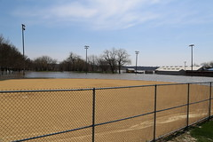 Flood It and They Will Come... (JayLev) Tags: water baseball flood diamond peoria fieldofdreams illinoisriver