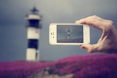 Duplicidades (fertraban) Tags: faro mar galicia telfono lugo mvil iphone metafoto ribadeo cantbrico islapancha illapancha