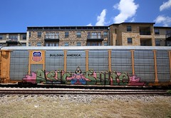 (o texano) Tags: austin bench graffiti texas trains suite freights asic benching