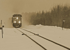 ANS-Ghost Train (ansels_sherpa OFF, gone fishing leave a message) Tags: street winter snow cold rural train country streetphotography winterbeauty