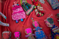 colorful rag dolls in rann of kutch (anthony pappone photography) Tags: travel india girl lady female nose asia colours colore desert traditional earring tribal tribes asie cloth tribe ethnic indi ragdolls rag indien seller indi gujarat inde bambole ethnology azi indland kutch  northindia etnic greatrannofkutch indija  etnia ethnie buhj   anthropologye colorfulragdollcolors