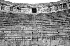 North Theater B&W (Rukasu1) Tags: blackandwhite bw white black apple stairs aperture nikon ruins theater roman north jordan 1855mm nikkor jerash romanruins d5000 nikond5000