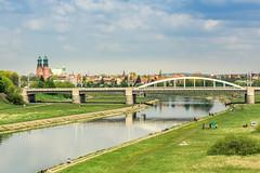 Warta River, Poznan (przemyslawkrzyszczuk) Tags: grass clouds river poland polska polonia poznan posen trawa rzeka chmury warta