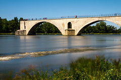 avignon-2.jpg (kepler13) Tags: nature water photography eau photographie riviere bleu ciel pont paysage avignon poselongue nd1000 poselente