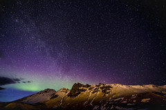 2016 04 VIK Nothern light montagnes (AKAMASSI) Tags: longexposure trip winter light sky mountain green weather night clouds canon landscape iceland exposure purple s vik tamron dreamscape islande northernlight pierremichel canon5dmarkiii lostworldpics