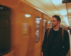 Reflection Perfection (tito_mikani) Tags: man reflection berlin pose ubahn