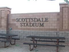 Back Sign at Scottsdale Stadium -- Scottsdale, AZ, March 08, 2016 (baseballoogie) Tags: arizona baseball stadium az giants scottsdale ballpark springtraining sanfranciscogiants cactusleague baseballpark scottsdalestadium 030816 canonpowershotsx30is baseball16