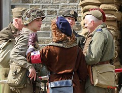 Haworth 1940's Weekend 2016 -  KV8A8925 (grab a shot) Tags: uk england people woman man canon vintage army eos war uniform outdoor military yorkshire wwii 1940s ww2 reenactment westyorkshire civilian homefront worldwar2 oldfashioned haworth livinghistory 2016 homeguard warweekend brontecountry haworth1940sweekend 7dmarkii