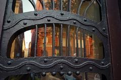 Art Nouveau door detail (elinor04 thanks for 24,000,000+ views!) Tags: building architecture hungary budapest secession architect artnouveau decayed 1905 vidor vidoremil