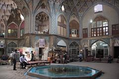 at the bazaar (=Mirjam=) Tags: architecture iran mosaic kashan bazar caravanserai nikond750