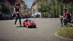 Mini Cooper (N I C K ......1 8 2 8) Tags: auto red people italy woman sun car donna mini cooper minicooper sole rosso luce sanbenedettodeltronto