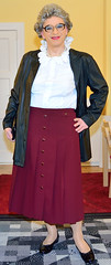 Ingrid022094 (ingrid_bach61) Tags: skirt blouse mature pleated ruffled faltenrock rschenbluse