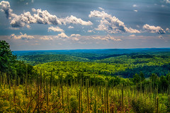 View-from-Top-Of-Mohawk-Mtn-2 (desouto) Tags: flowers sky nature water clouds stream stones lakes ponds hdr
