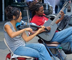 New Orleans Street Musicians ... (sswj) Tags: music musicians composition nikon louisiana guitar availablelight neworleans streetphotography naturallight violin existinglight nola fullframe dslr scottjohnson streetmusicians d600 nikkor28300mm